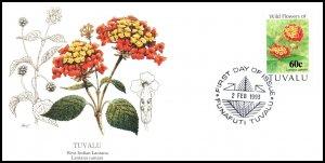 Tuvalu 627 Flowers Fleetwood U/A FDC