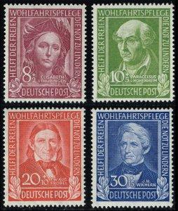 Germany #B310-B313 Helpers of Mankind Set of 3; MNH (4Stars)