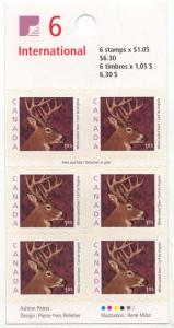 Canada - $1.05 White-Tailed Deer Field Stock #BK239a Self-Adhesive