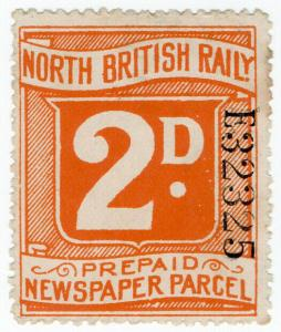 (I.B) North British Railway : Prepaid Newspaper Parcel 2d