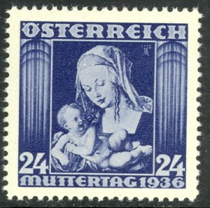 AUSTRIA 1936 MOTHER'S DAY Issue Sc 377 MNH