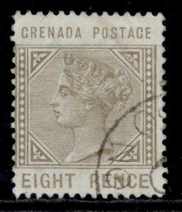 GRENADA SG35, 8d grey-brown, FINE USED. Cat £13.