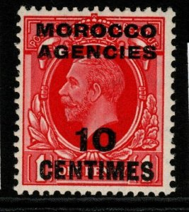 MOROCCO AGENCIES SG217 1936 10c on 1d SCARLET MNH