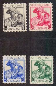 Surinam   #B12-B15  1931  MH  welfare complete set  2 scans