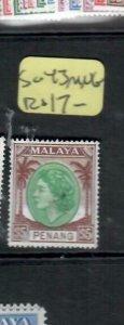 MALAYA  PENANG  (PP1606B) QEII  $5  SG 43    MNG