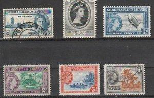#53,60,61,63,66-7 Gilbert & Ellice Island Mint OGH & Used #190819-2