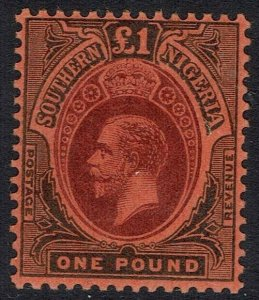 SOUTHERN NIGERIA 1912 KGV 1 POUND