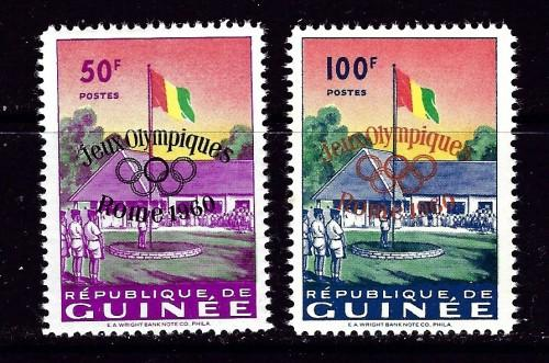 Guinea 188-89 NH 1959 Olympic Overprints
