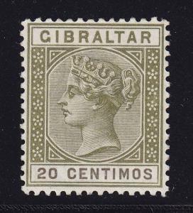 Gibraltar Scott # 31A VF OG lightly hinged nice color scv $ 50 ! see pic !