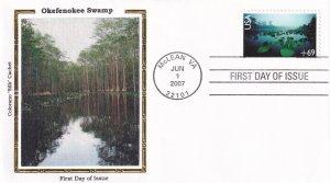 2007, Okefenokee Swamp, Colorano Silk, FDC (E11896)