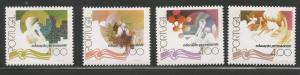 PORTUGAL 1338-1341, CONTINUAL EDUCATION, C/SET OF 4, HINGED, 1977