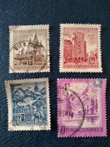 Republik Osterreich Four Stamps.