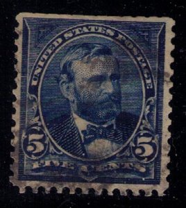 US SCOTT #281 USED PERF FAULT TOP SIDE VF