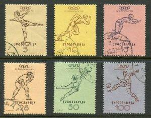 Yugoslavia Scott 359-364 Used 1952 Helsinki Olympics Set
