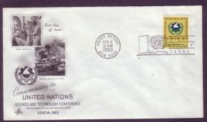 United Nations FDC Sc. #  115 Science    L15