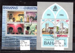 Bahamas 1986 2 x mini sheets (VFU) MS776-781 WS6005