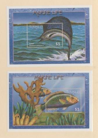Tuvalu Scott #824//826 Stamps - Mint NH Souvenir Sheet Set of 2