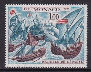 Monaco  #824   MNH  1972    battle of Lepanto  ships