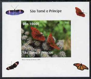 St Thomas & Prince Islands 2005 Butterflies #3 indivi...