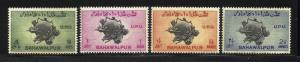 Bahawalpur 1949 UPU Scott# 26-29 MNH