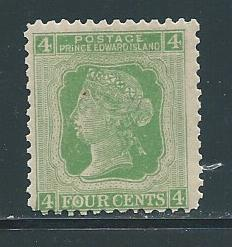 Prince Edward Island 14 4c Victoria single MLH