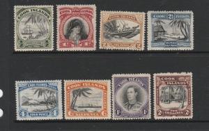 Cook islands 1944/46 set to 2/- MM SG 137/144