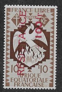 FRENCH EQUATORIAL AFRICA SC# B34  FVF/MOG    1944