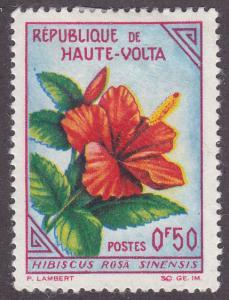 Burkina Faso 111 Hibiscus 1963