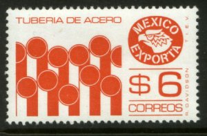 MEXICO Exporta 1121 $6P Steel Pipes Perf. 14 Fluor Paper 5. MINT, NH. VF.