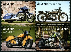 HERRICKSTAMP NEW ISSUES ALAND Sc.# 409e Motorcycles Booklet