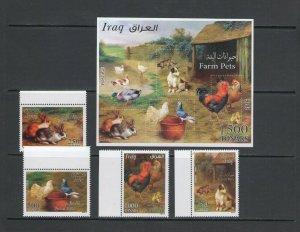 IRAQ: Sc. 1987-91 /**DOMESTIC/FARM ANIMALS  ** / SET & SS - MNH.