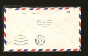 Canada 468 on 1969 Dartmouth-Trois Rivers 50th Anniversary First Flight Cover