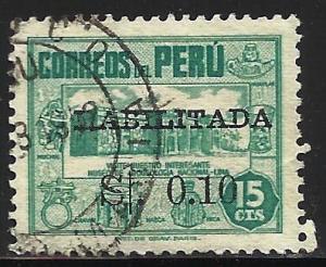 Peru 1952 Scott# 446A Used