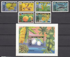 Z2308 1981 maldive islands set + s/s mnh #943-9 food day
