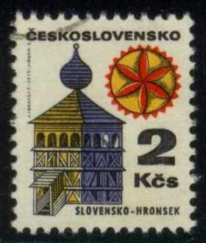 Czechoslovakia #1735 Bell Tower in Hronsek, CTO (0.25)