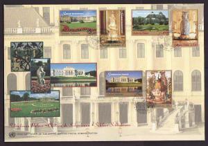 UN NY 741-2,G 329-30,V 246-7 Palace 1998 U/A FDC