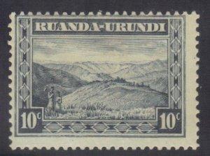 RUANDA-URUNDI SC# 38 **MH** 10c  1931-38   SEE SCAN