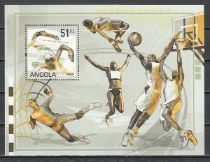 Angola, Scott cat. 1314. Sports s/sheet..