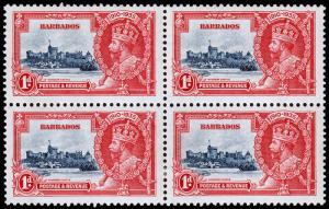 Barbados Scott 186 Block of 4 (1935) Mint LH F-VF C