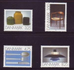 Denmark Sc 941-4 1991 Decorative Art stamp set mint NH