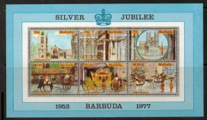 BARBUDA SGMS304 1977 SILVER JUBILEE MNH
