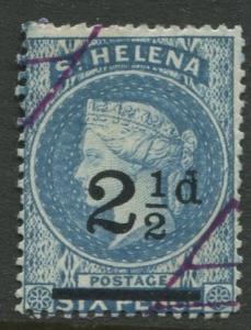 St.Helena - Scott 47 - QV Overprint -1893 - VFU - Single 2.1/2p on a 6p Stamp