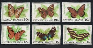 Cayman Is. Butterflies and Moths 6v SG#435-440