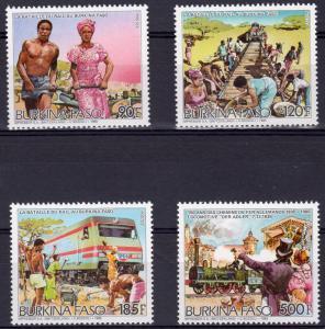 Burkina-Faso 1986 RAILROAD set (4v) Perforated Mint (NH)