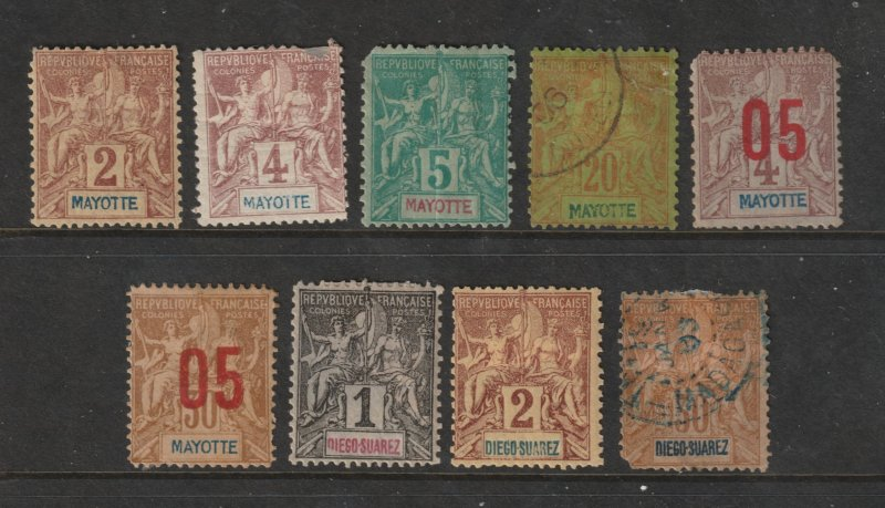 Mayotte (French) a small lot of old ones