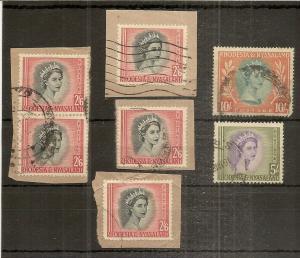 Rhodesia & Nyasaland 1954 High Values (7v)
