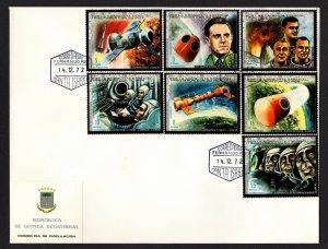 Equatorial Guinea  #72235-41 (1972 Astronaut Memorial set) VF used on FDC