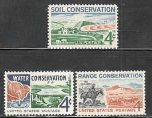 1133,1150,1176 Complete Conservation Set Of 3 Postage Stamps MNH FREE SHIPPING