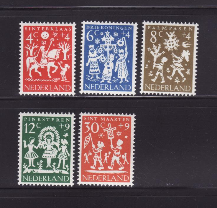 Netherlands B358-B362 Set MNH Holiday Folklore