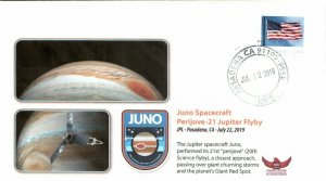 2019 Juno Jupiter Spacecraft Jupiter Perijove-21 JPL Pasadena 22 July